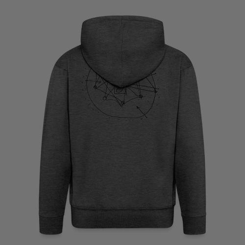Strategia SEO nr 1 (czarny) - Rozpinana bluza męska z kapturem Premium