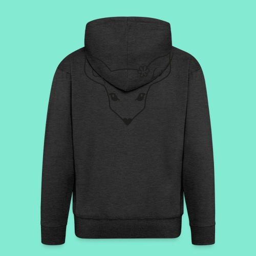 little fawn t-shirt - Felpa con zip Premium da uomo