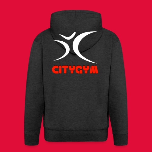 CityGym Guys Pullover - Black - Men's Premium Hooded Jacket