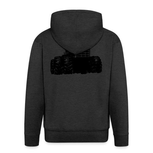 IH 4WD Tractor - Men's Premium Hooded Jacket
