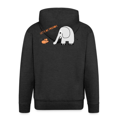 Elephant and mouse, friends - Men's Premium Hooded Jacket