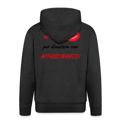 40 ANNI donna - Felpa con zip Premium da uomo