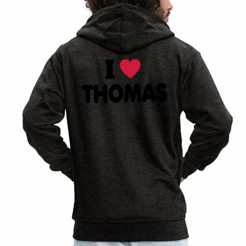 I love Thomas - Männer Premium Kapuzenjacke