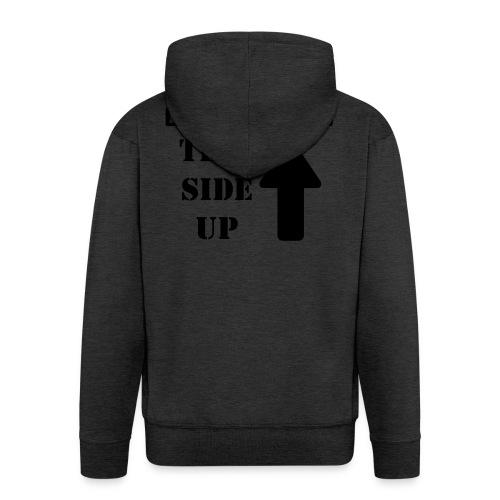 Handle with care / This side up - PrintShirt.at - Männer Premium Kapuzenjacke