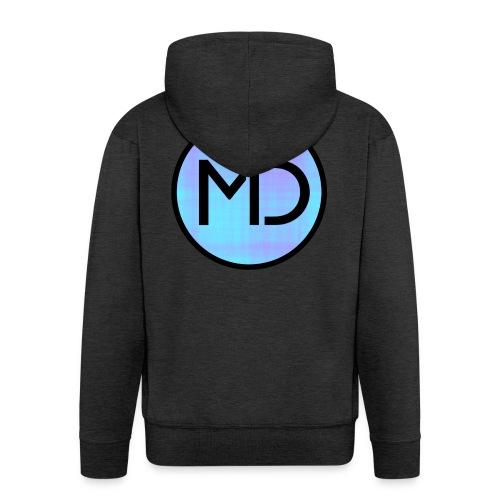 MD Blue Fibre Trans - Men's Premium Hooded Jacket