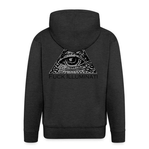 Fuck Illuminati - Felpa con zip Premium da uomo