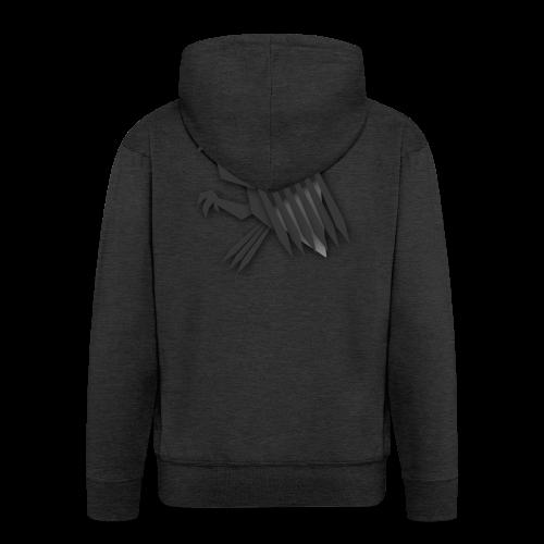 Nörthstat Group ™ Black Alaeagle - Men's Premium Hooded Jacket