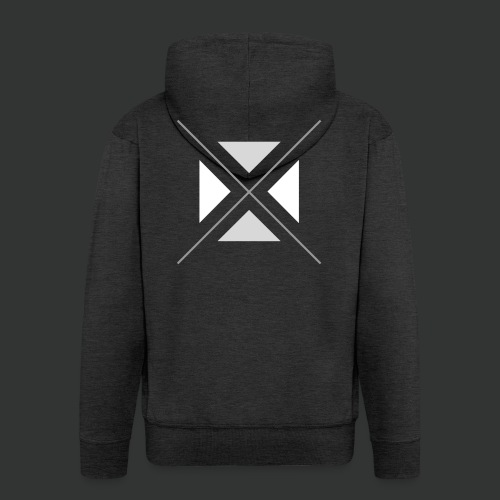 triangles-png - Men's Premium Hooded Jacket