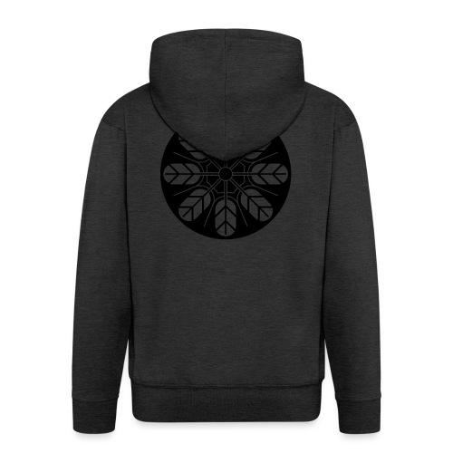 Inoue clan kamon in black - Men's Premium Hooded Jacket