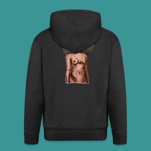 womb woman - Mannenjack Premium met capuchon