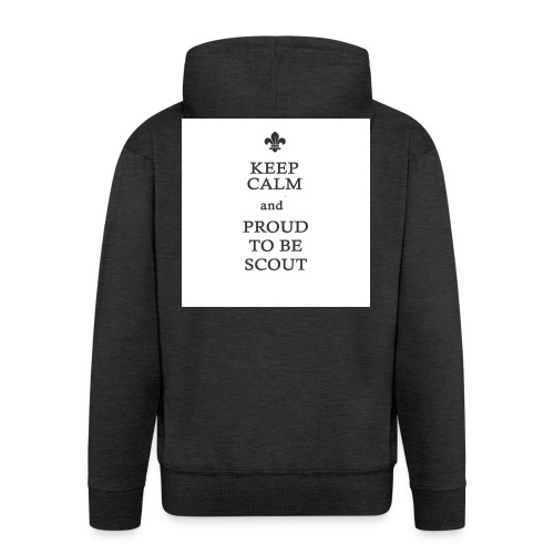 Keep calm and proud to be a scout - Mannenjack Premium met capuchon