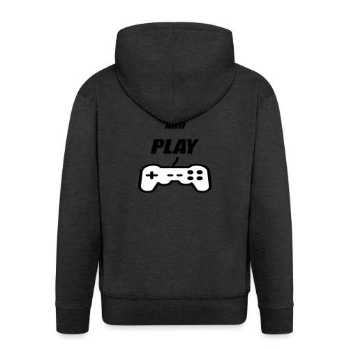 Maglietta Keep Calm And Play bianca. - Felpa con zip Premium da uomo