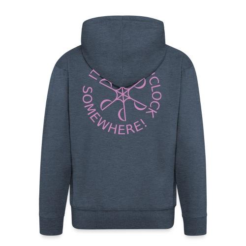 diveoclocklogodlpink png - Men's Premium Hooded Jacket