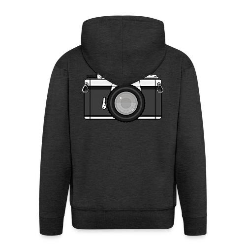 Shot Your Photo - Felpa con zip Premium da uomo