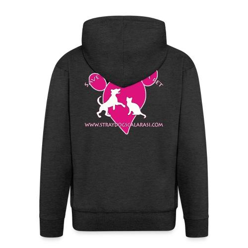 LOGO www.Straydogscalarasi.com pink - Mannenjack Premium met capuchon