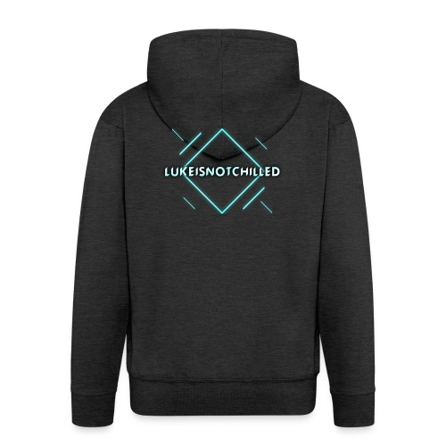 Lukeisnotchilled logo - Men's Premium Hooded Jacket