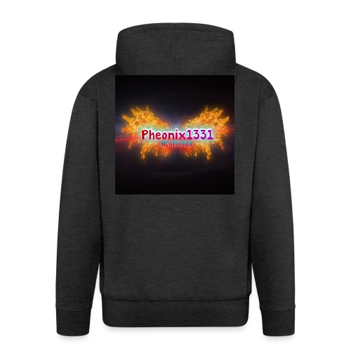 Flaming Pheonix YT - Men's Premium Hooded Jacket