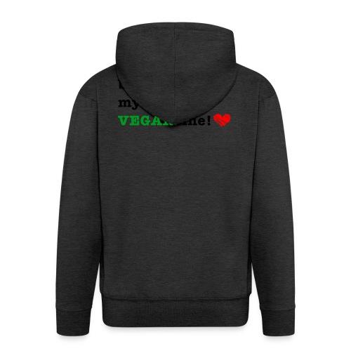 VEGANtine Green - Men's Premium Hooded Jacket