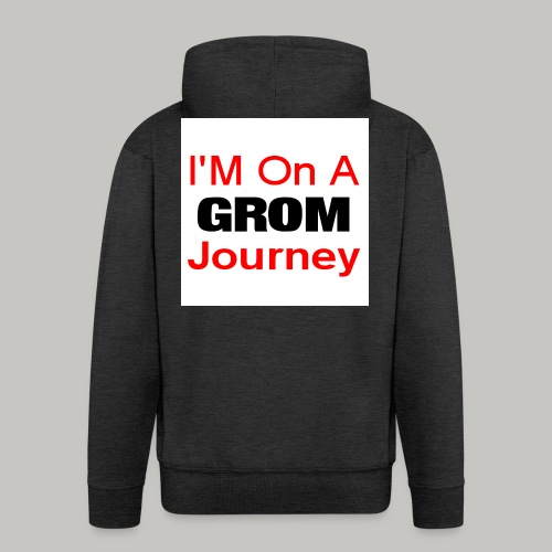 i am on a grom journey - Men's Premium Hooded Jacket