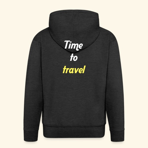 Time to travel - Veste à capuche Premium Homme