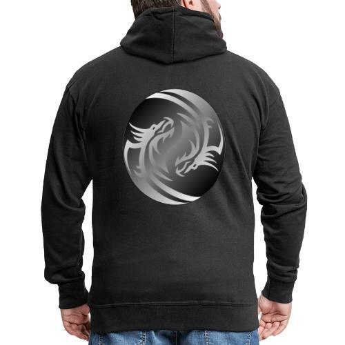 Yin Yang Dragon - Men's Premium Hooded Jacket