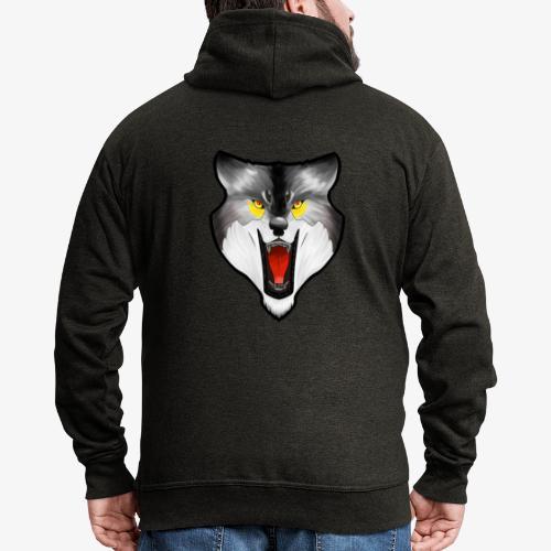 Loup Gris - Veste à capuche Premium Homme