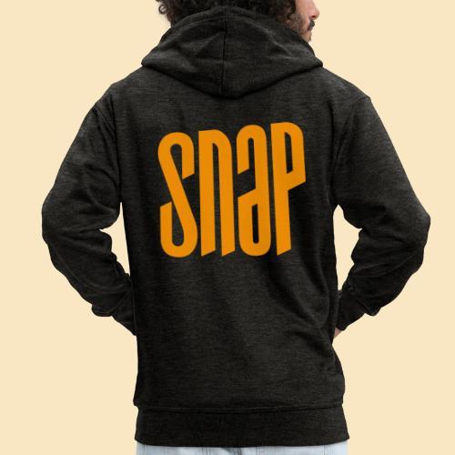 SNAP orange 003 - Männer Premium Kapuzenjacke