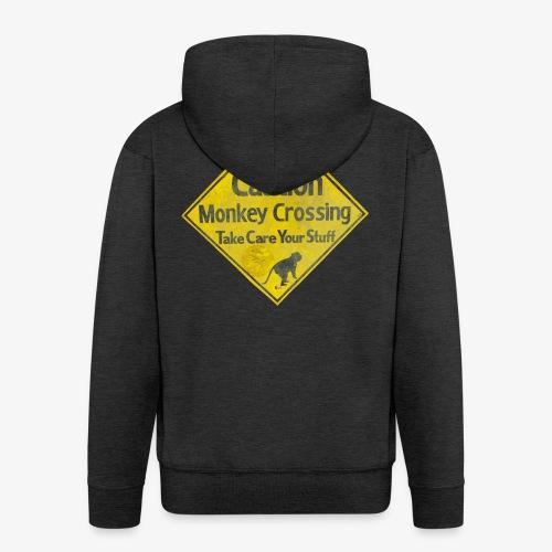 Caution Monkey Crossing - Männer Premium Kapuzenjacke