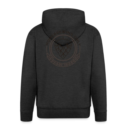 Homebrewing Only logo greygreen - Men's Premium Hooded Jacket