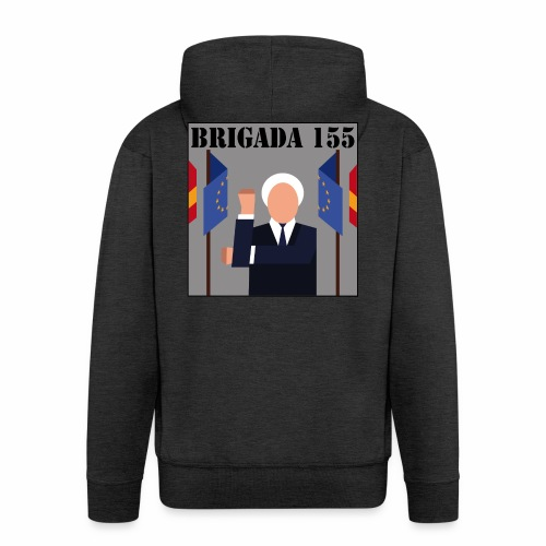 LOGOBRIGADA155 3500x3500px - Chaqueta con capucha premium hombre