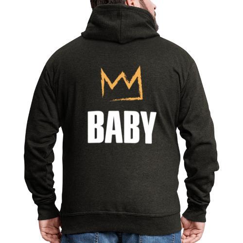 Baby mit Krone - Männer Premium Kapuzenjacke