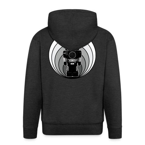 Cooles 80er Retro Roboter T-Shirt Scifi Geschenk - Männer Premium Kapuzenjacke