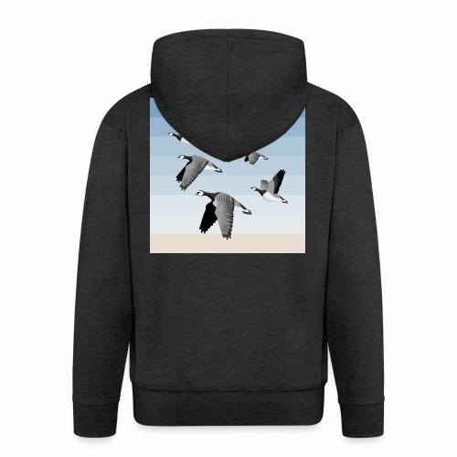 Barnacle goose flock - Men's Premium Hooded Jacket