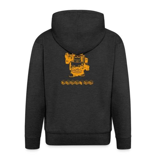 Cooles Vintage Roboter T-Shirt Geschenkidee - Männer Premium Kapuzenjacke