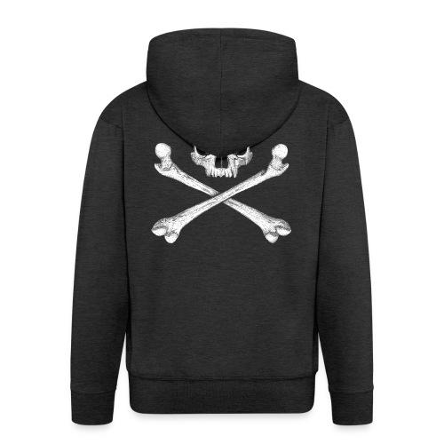 Jolly Roger - Pirate Skull Flag - Men's Premium Hooded Jacket