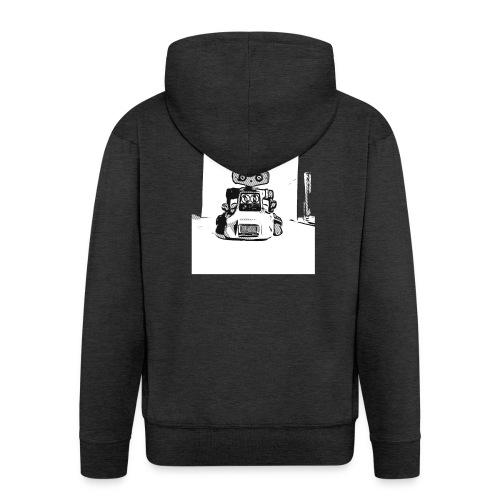 Vintage Retro Roboter Bot Robot Scifi T-Shirt - Männer Premium Kapuzenjacke