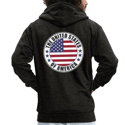 The United States of America - USA flag emblem - Men's Premium Hooded Jacket