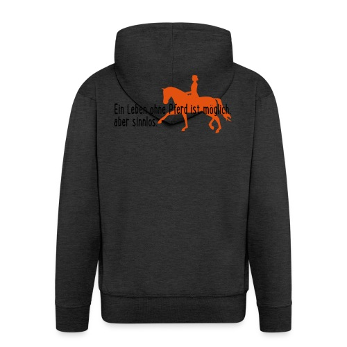 Pferd - Männer Premium Kapuzenjacke