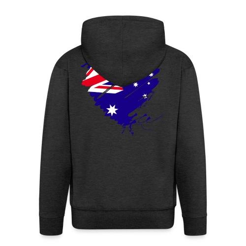 Australien Sydney Kontinent Grunge Herz Fahne - Männer Premium Kapuzenjacke