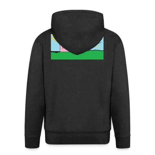 tskjorte med hus - Premium Hettejakke for menn