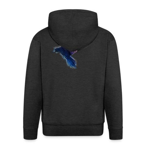 Watercolor Raven - Männer Premium Kapuzenjacke