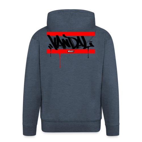 #EASY Graffiti Vandal T-Shirt - Felpa con zip Premium da uomo