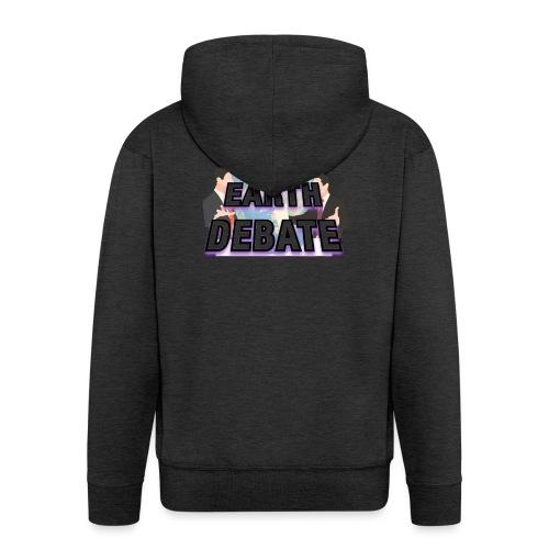 Flat Earth Debate - Men's Premium Hooded Jacket