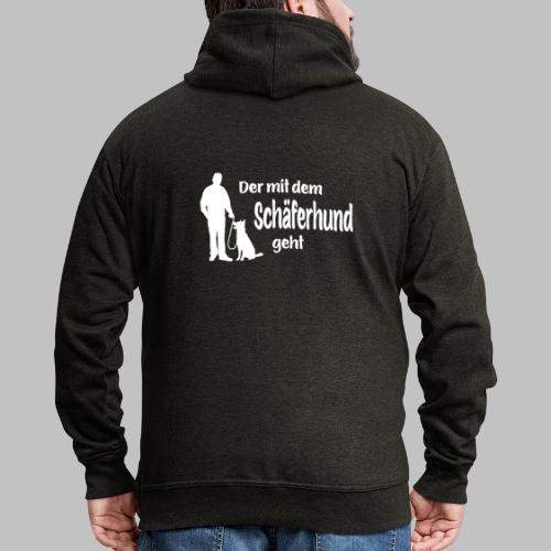 Der mit dem Schäferhund geht - White Edition - Männer Premium Kapuzenjacke