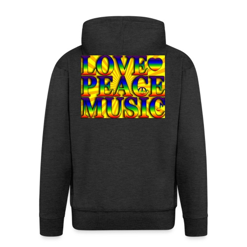 Love Peace and Music - Men's Premium Hooded Jacket