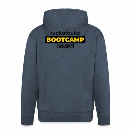 Ruokatauko Bootcamp Addikti - Miesten premium vetoketjullinen huppari