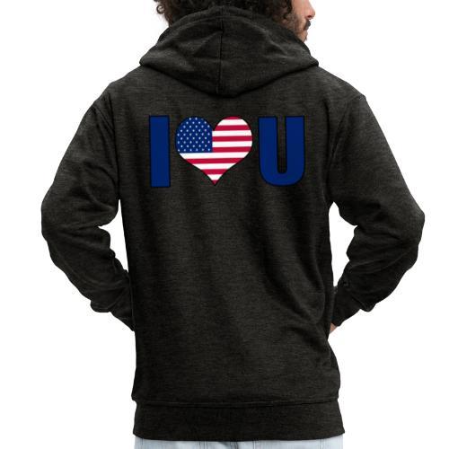 I love u USA - Premium Hettejakke for menn