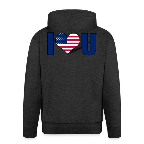 I love u USA - Premium Hettejakke for menn
