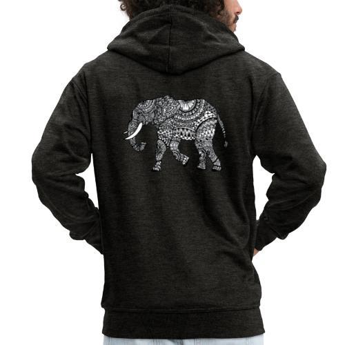 Elefant, gemustert - Männer Premium Kapuzenjacke