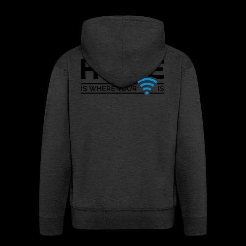 home is where … wi-fi - Männer Premium Kapuzenjacke